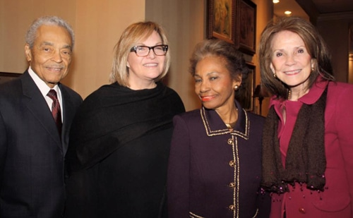 Dr. John Smith, event co-chair Lorna Taylor, Dr. Juel Smith and Rosemary Henderson